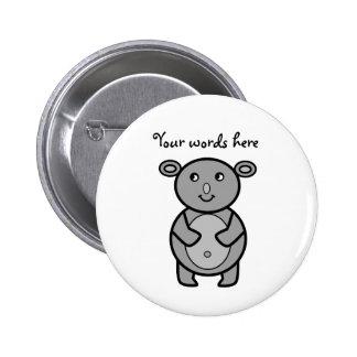 Smiling koala bear 6 cm round badge