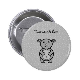 Smiling Koala bear on paw pattern 6 Cm Round Badge