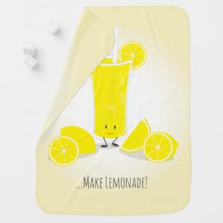Smiling Lemonade Glass | Baby Blanket