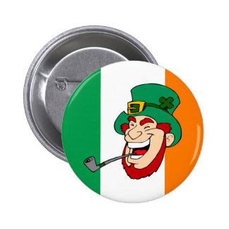 Smiling Leprechaun St. Patrick's Day 6 Cm Round Badge