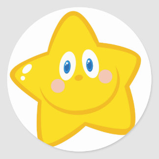 Smiling Little Star Cartoon Character Stickers