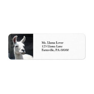 Smiling Llama Return Address Labels