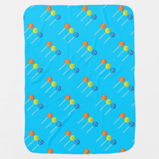 Smiling lollipops baby blanket