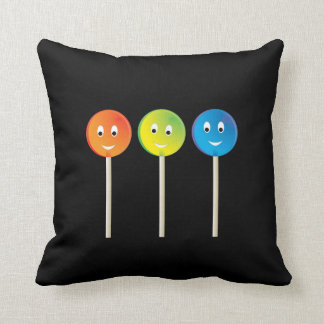 Smiling lollipops cushion