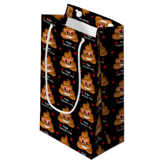 Smiling Love Poop Emoji Valentine's Day Gift Bag