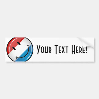 Smiling Luxembourg Flag Bumper Sticker