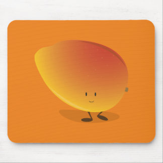 Smiling Mango Character Mouse Pad