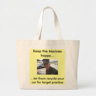 Smiling Marine Line Jumbo Tote Bag