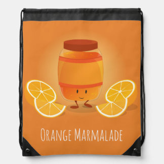 Smiling Marmalade Jam | Drawstring Backpack