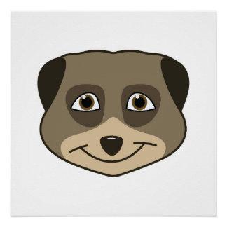 Smiling meerkat design