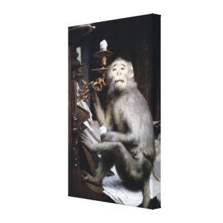 Smiling Monkey Canvas Prints
