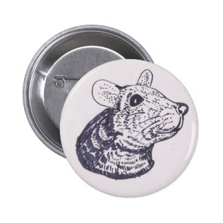 Smiling Mouse Pinback Button