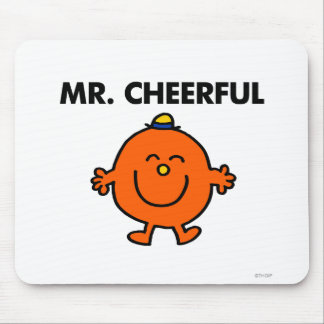 Smiling Mr. Cheerful Mouse Pad