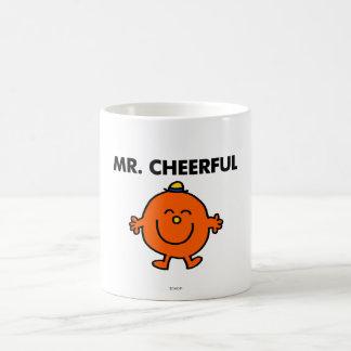 Smiling Mr. Cheerful Basic White Mug