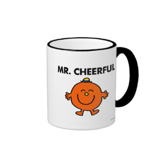 Smiling Mr. Cheerful Ringer Mug