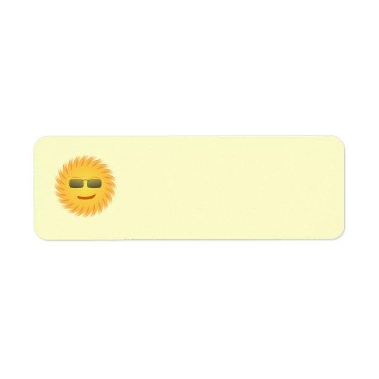 Smiling Mr. Sun Return Address Avery Label
