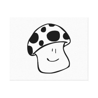 Smiling Mushroom Stretched Canvas Print