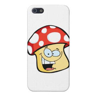 Smiling Mushroom Cartoon Character iPhone 5 Cases