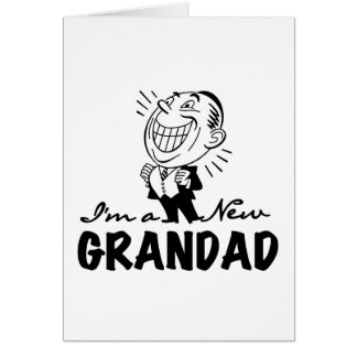 Smiling New Grandad T-shirts and Gifts Greeting Card