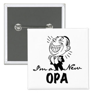Smiling New Opa T-shirts and Gifts 15 Cm Square Badge