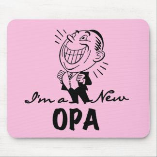 Smiling New Opa T-shirts and Gifts Mousepads