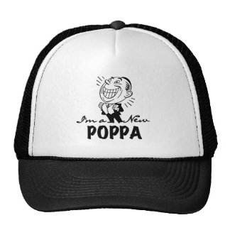 Smiling New Poppa T-shirts and Gifts Trucker Hat