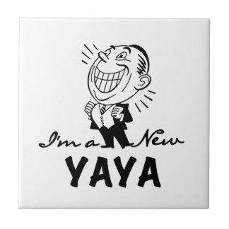 Smiling New Yaya Tshirts and Gifts Small Square Tile