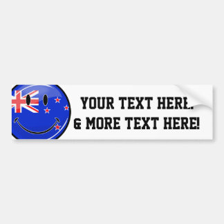 Smiling New Zealand Flag Bumper Sticker