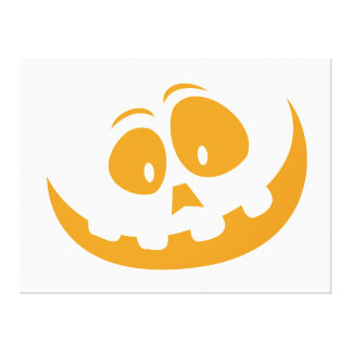 Smiling Orange Jack 'O Lantern Halloween Pumkin Canvas Print