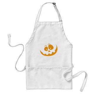 Smiling Orange Jack 'O Lantern Halloween Pumkin Standard Apron