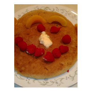Smiling pancake postcard