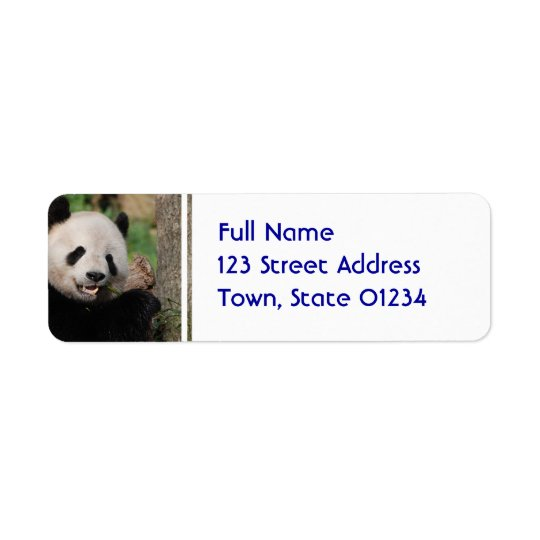 Smiling Panda Bear Return Address Label