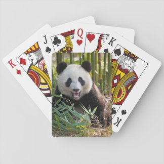 Smiling Panda Portrait Playing Cards