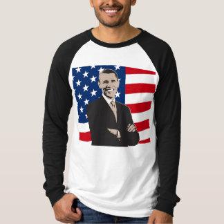 Smiling Patriotic Barack Obama Pop Art T-Shirt