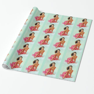 Smiling Pin Up Wrapping Paper