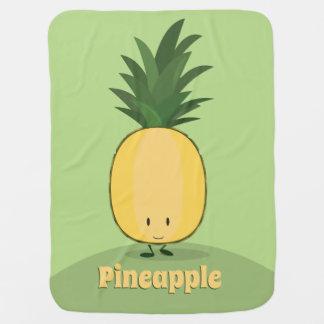 Smiling Pineapple | Baby Blanket