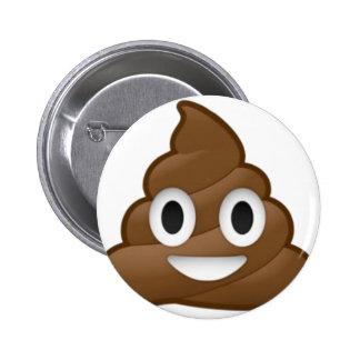 Smiling Poop Emoji 6 Cm Round Badge