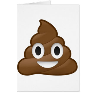 Smiling Poop Emoji Greeting Card