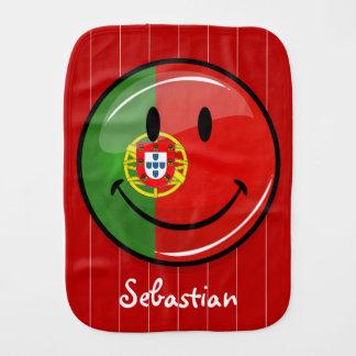 Smiling Portuguese Flag Burp Cloth