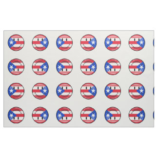 Smiling Puerto Rican Flag Fabric