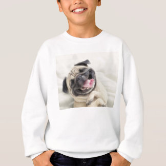Smiling pug.Funny pug Sweatshirt