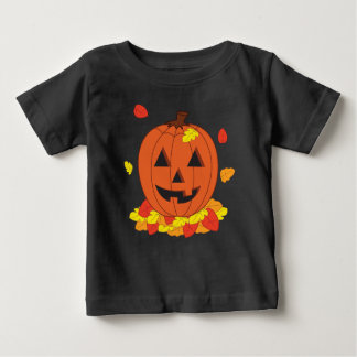 Smiling Pumpkin Baby T-Shirt