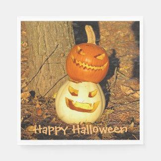 Smiling Pumpkin Buddies Halloween Napkins Disposable Serviettes