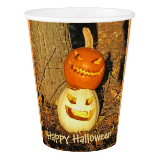 Smiling Pumpkin Buddies Party Cups