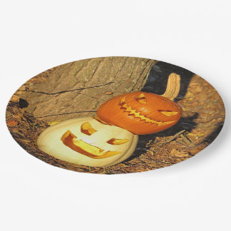 Smiling Pumpkin Buddies Party Plates 9 Inch Paper Plate