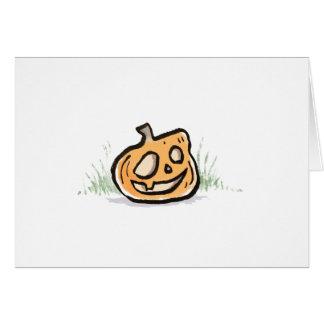Smiling Pumpkin Greeting Card {Halloween}