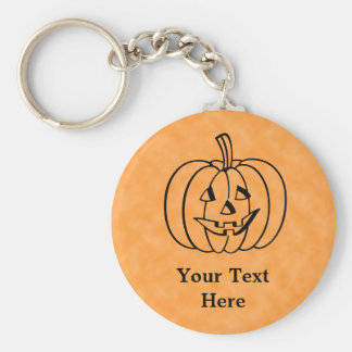 Smiling Pumpkin. Key Ring