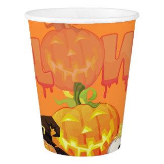 Smiling Pumpkins Happy Halloween Paper Cup