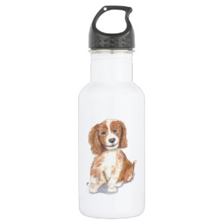 Smiling Puppy, add text, name. 532 Ml Water Bottle