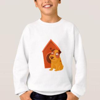 Smiling Puppy Next To Wooden Kennel Sweatshirt